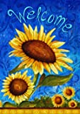 Toland Home Garden Sweet Sunflowers 12.5 x 18 Inch Decorative Summer Welcome Flower Double Sided Garden Flag