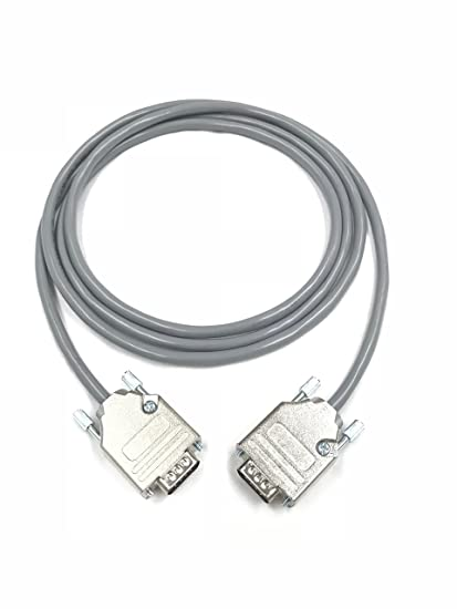 Amazon Com 175 Foot Db9 Male To Male 22 Awg Serial Gray Pvc Cable