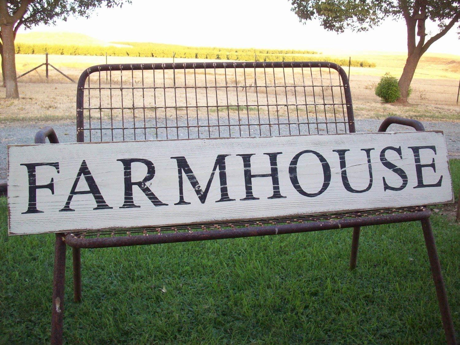 Evan16Eddie Farmhouse Sign Pancarte en Bois Rustique Farmhouse