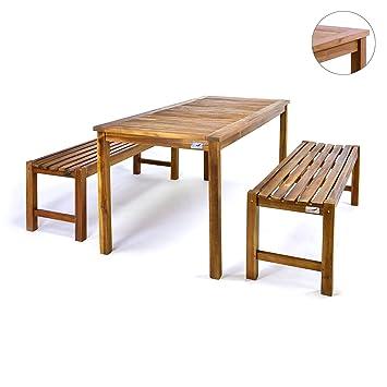 Bank Mit Tisch amazon de divero gartenmöbelset picknickset akazienholz bank tisch