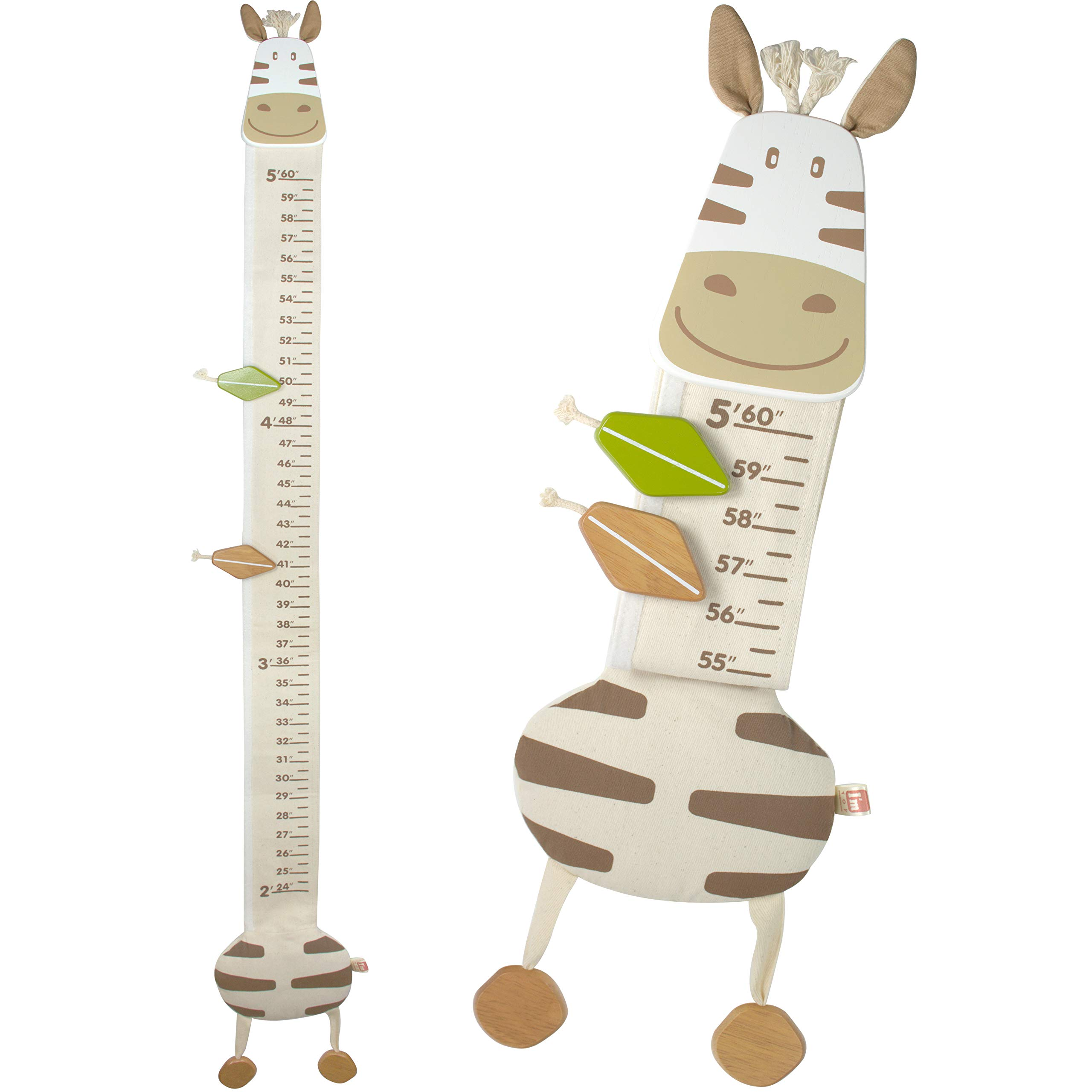 I'm Wood and Fabric Wall Growth Chart, Height Measurement, Scale, Ruler for Kids (Horse) by I'm