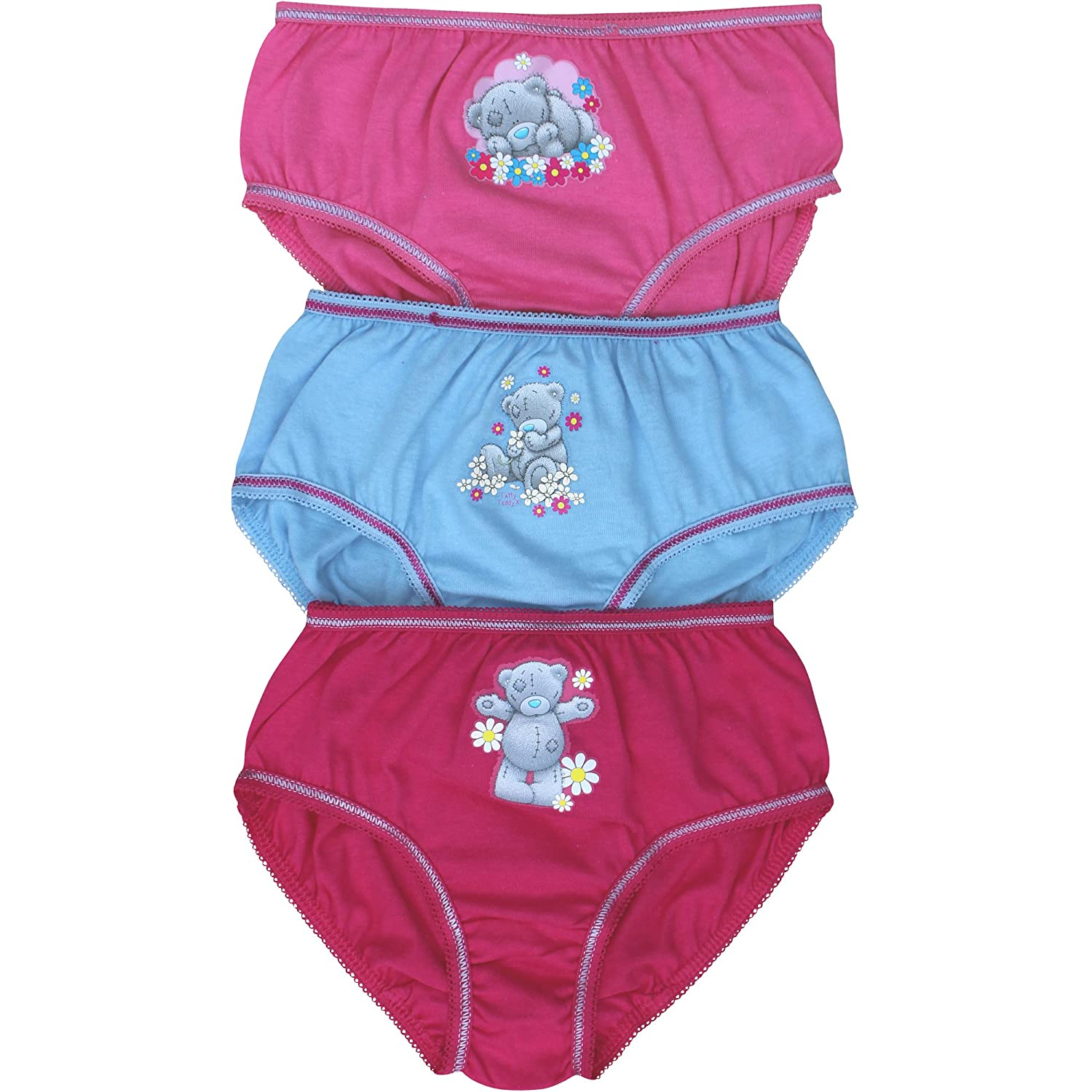 Tatty Teddy Girl's Bear Hipster Briefs Pants Set (3 Pair Pack)