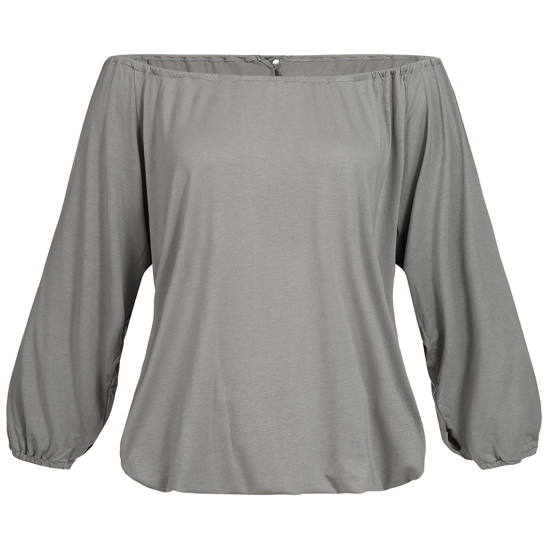 Lilikoi Damen Yoga Lifestyle Sport 3/4 Tel Angel Shirt Bambus,One Größe