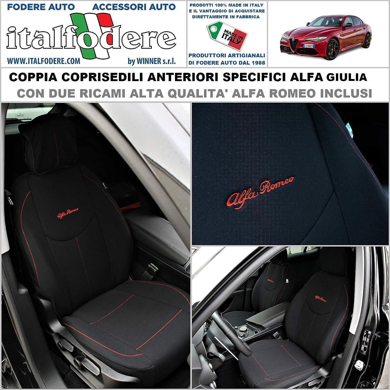Coppia COPRISEDILI Specifici Alfa Romeo Giulia Fodere Foderine