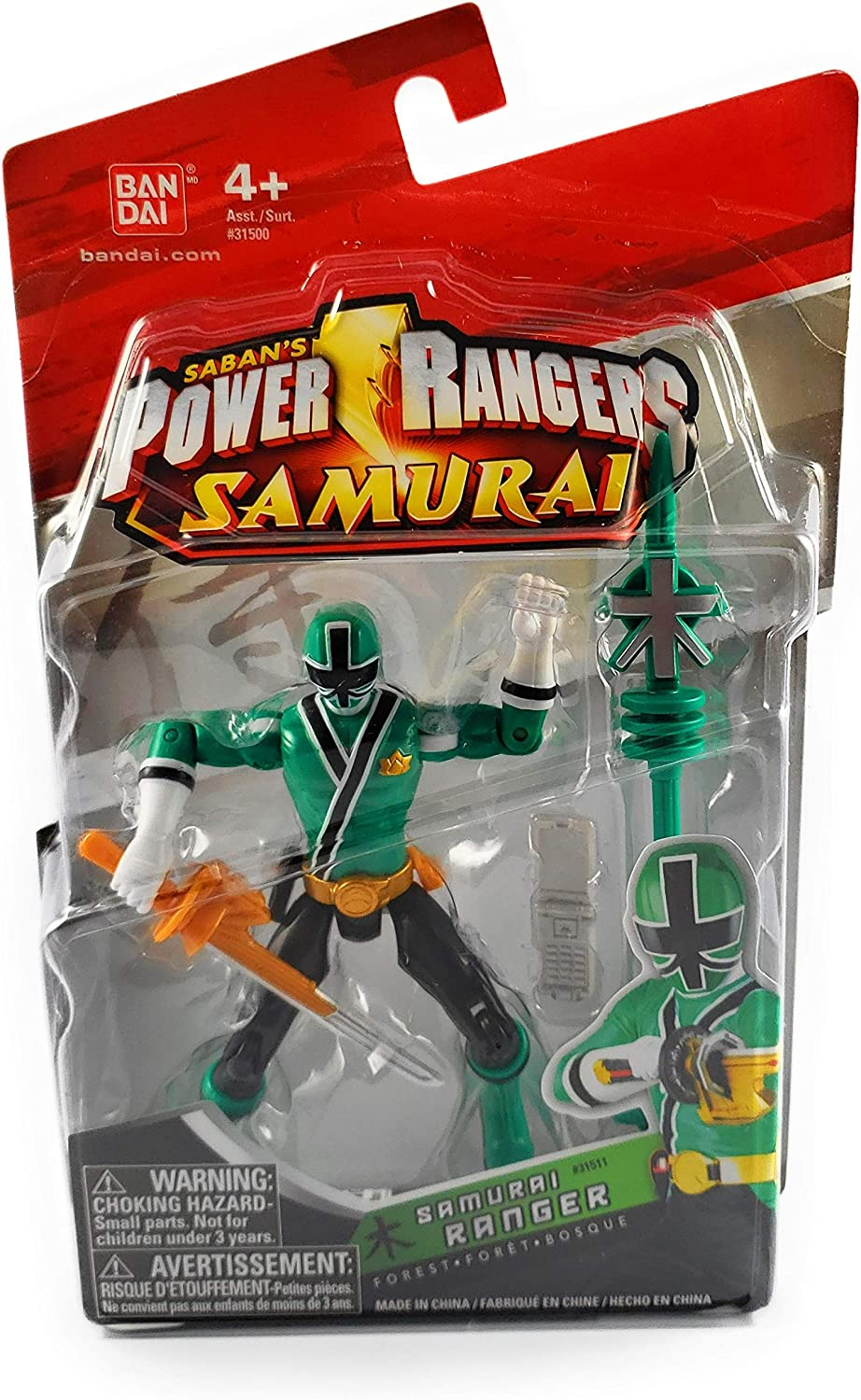 Power Ranger Samurai Samurai Ranger Forest Action Figure by Power Ranger Samurai: Amazon.es: Juguetes y juegos