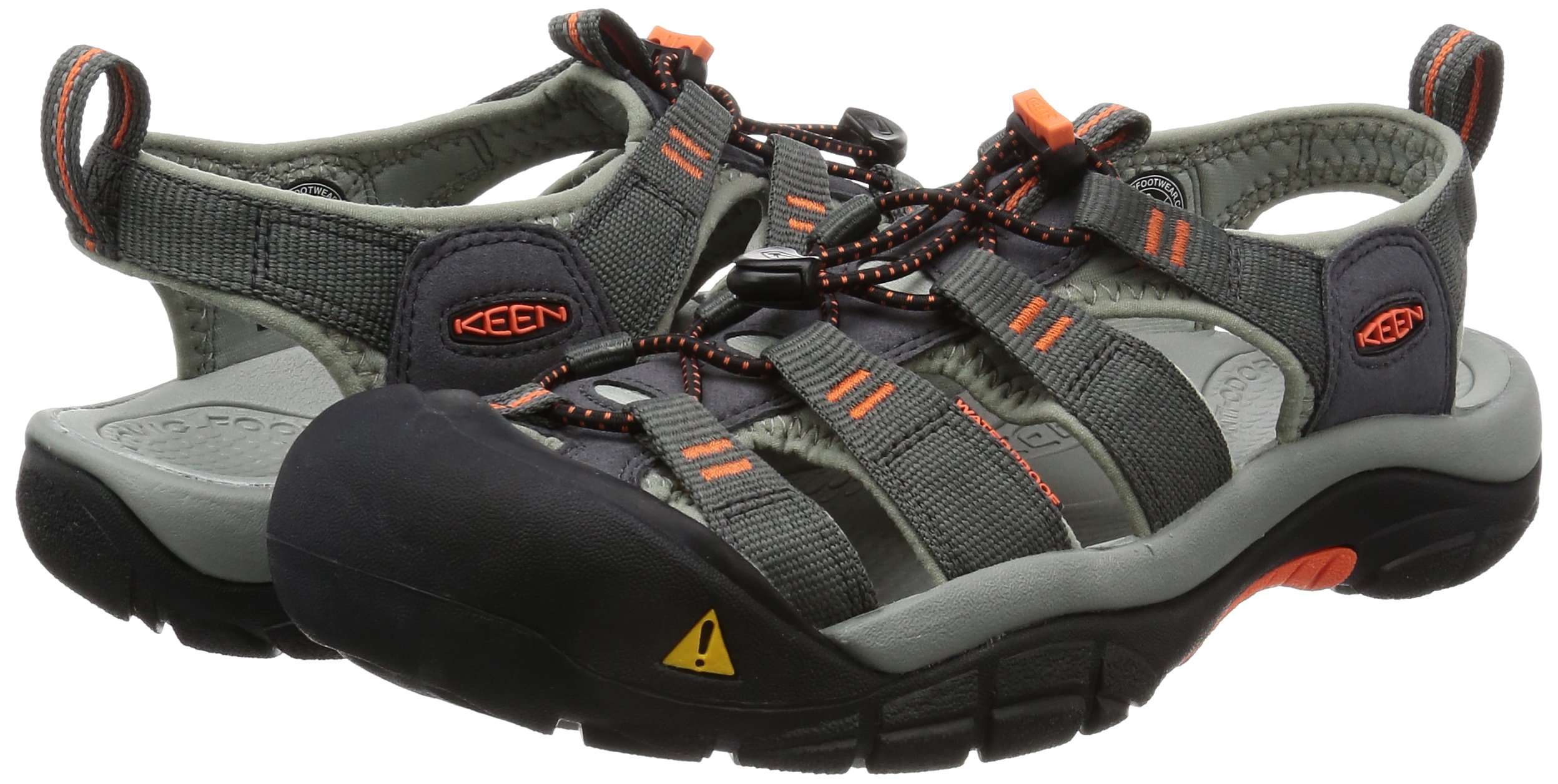 KEEN Men's Newport H2 Hiking Shoe, Magnet/Nasturtium, 15 M US by Keen (Image #6)