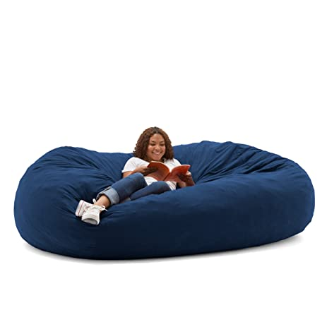 Big Joe XXL Fuf Foam Filled Bean Bag Chair Comfort Suede Blue Sky