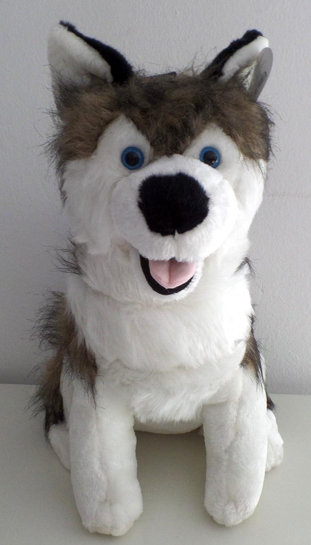 Peluches Animales de Peluche,, perro, Husky aprox. 45 cm, con cristal Ojos azules: Amazon.es: Juguetes y juegos