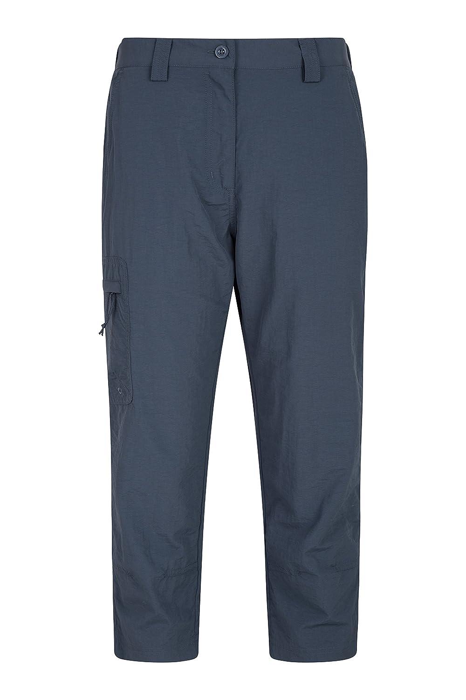 Mountain Warehouse Explore Womens Capris - Ladies Summer Hiking Pants Dark Grey 8 024925020004