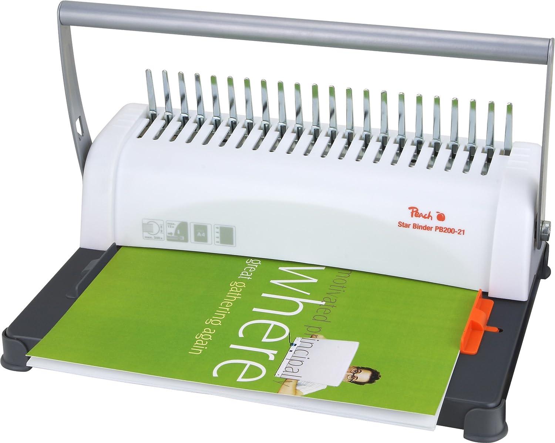 38 mm Binder/ücken /& PB100-06 Deckbl/ätter Star Binder Pro DIN A4 100 St/ück 0.18 mm max transparent Peach PB200-30 Plastikbindeger/ät DIN-A4 Preis-//Leistungs-Sieger* bindet 350 Blatt