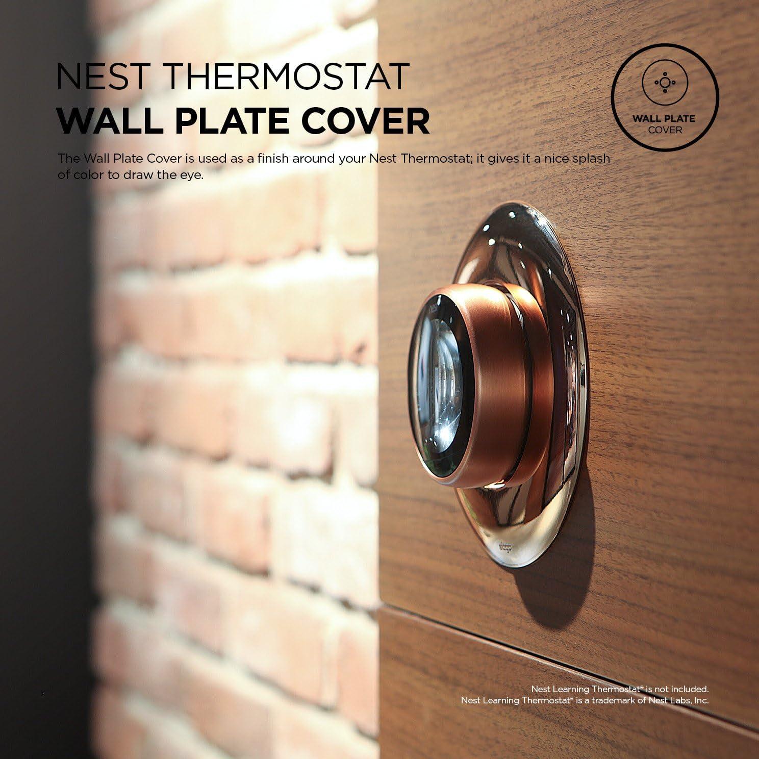 R/ésistant aux UV 2 G/én/ération 3 et 1 elago Plaque Murale pour Nest Learning Thermostat Acier inoxydable Mat/ériau ABS Solide