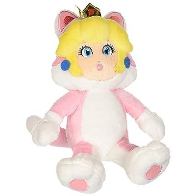 "Little Buddy Super Mario Neko Cat Peach Plush, 10"": Toys & Games"