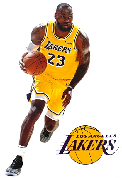 df2debe469a8b Image Unavailable. Image not available for. Color  Lebron James Mini FATHEAD  Graphic + Los Angeles Lakers Logo Official ...