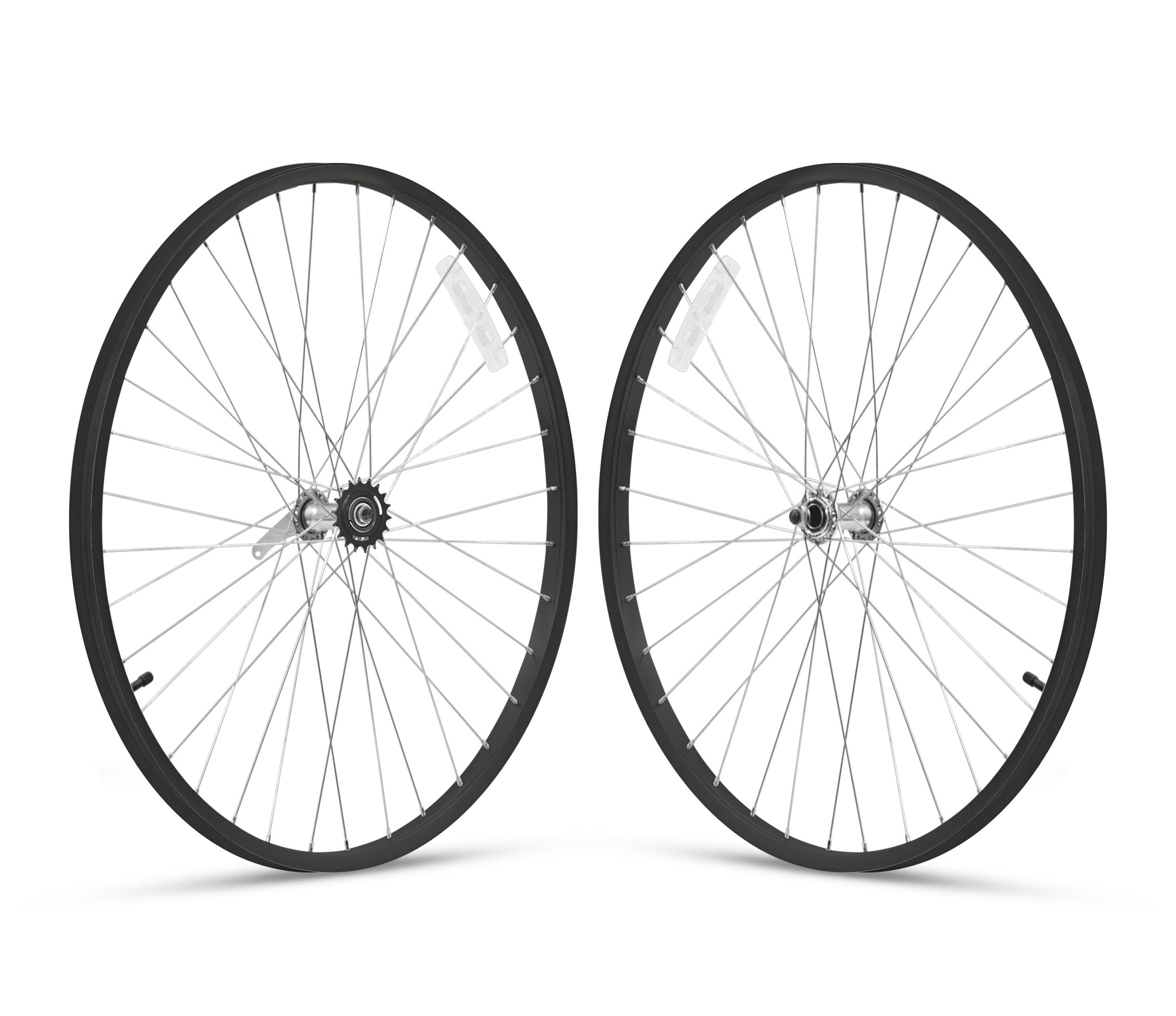 Firmstrong 1-Speed Beach Cruiser Bicycle Wheelset, Front/Rear, Black, 26''