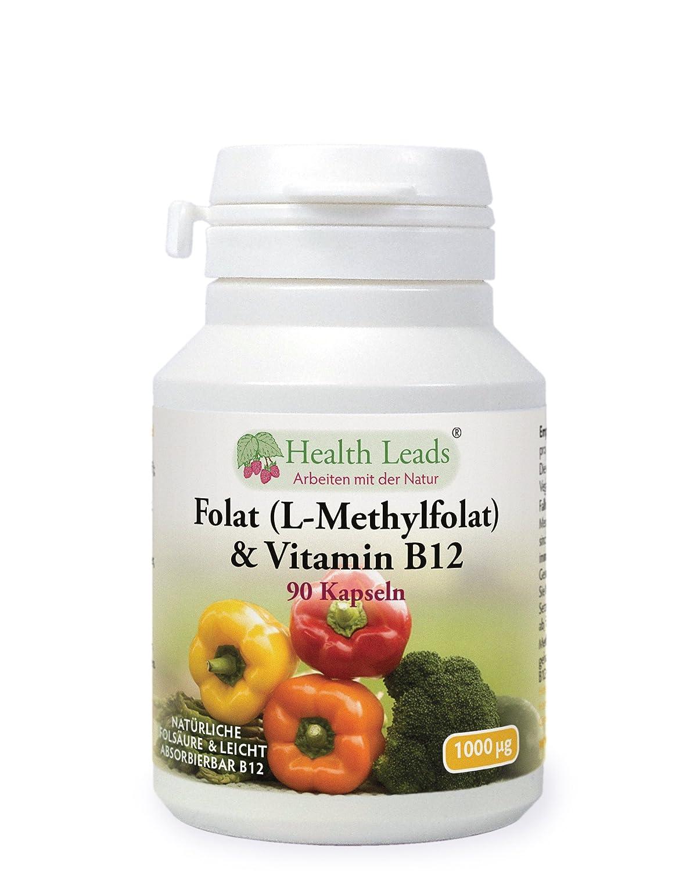 Folat Und Vitamin B12 X 90 Kapseln Ohne Magnesiumstearat Amazon Afolat Drogerie Krperpflege