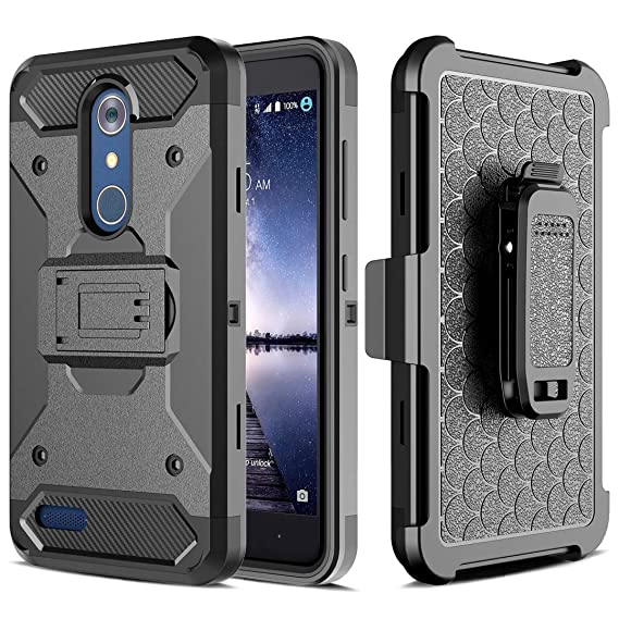 super popular 17290 1baeb LG Stylo 3 Case,LG Stylus 3 Case, I VIKKLY Heavy Duty Full-body Rugged  Holster Case with Built-in Kickstand, Drop Protection Tough Shockproof Case  ...