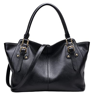 BIG SALE-AINIMOER Women Vintage Soft Genuine Leather Tote Shoulder ...