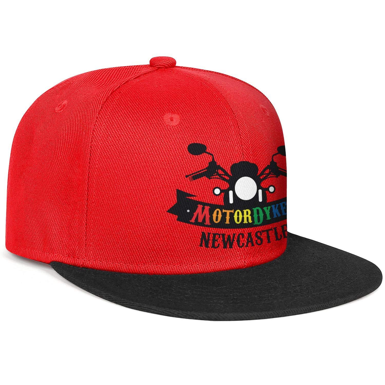 Unisex Mesh Snapback Caps Dykes /¡n Bikes Rainbow Black Flat Bill Hip Hop Baseball Hats