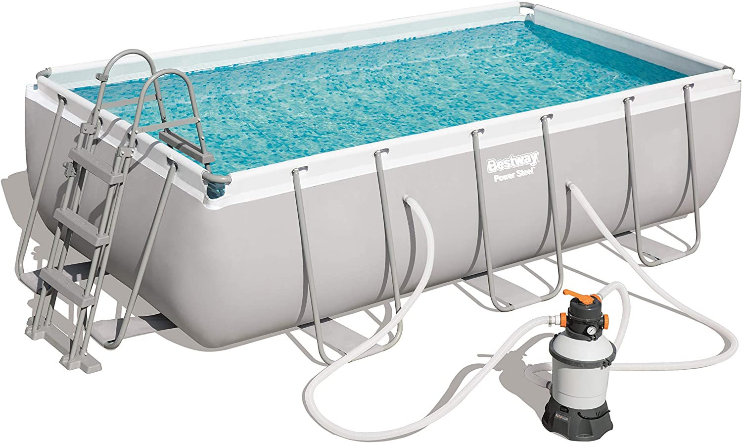 Bestway 56442 Power Steel Rectangular Pool 404 X201 X100 cm, Marco ...