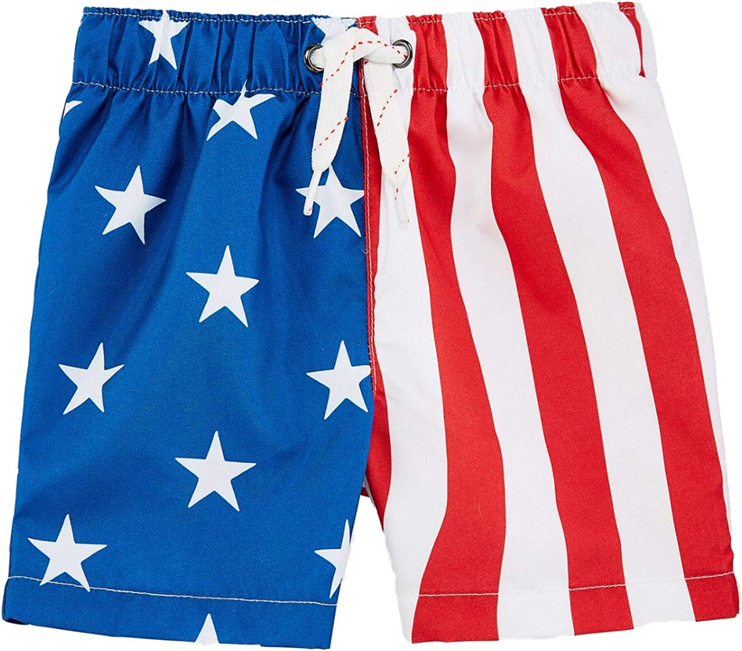 Patriotic Boys Shorts Red White and Blue Stars and Stripes