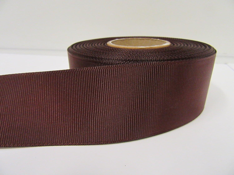 Beautiful Ribbon 2 metri di 38 millimetri nastro del Grosgrain Castagna marrone scuro su due lati costine 38 mm 38mm