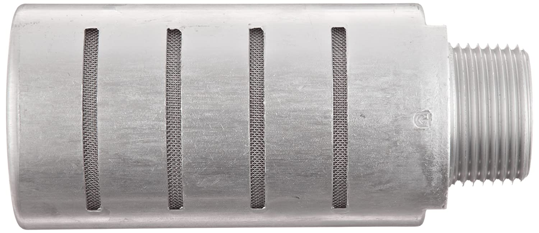 Parker ES100MC Aluminum Exhaust Silencer 2.01 Diameter x 4.56 Length 1 NPTF 250 psi 1013 scfm Flow