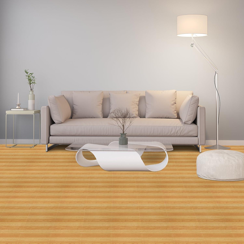 Achim Home Furnishings STT1M21445 Light Oak Plank Sterling x 12 Self Adhesive Vinyl Floor Tile-45 Tiles/45 sq. Ft