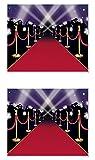 Beistle S52150AZ2, 2 Piece Red Carpet Insta-Murals, 5' x