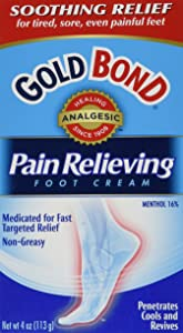 Gold Bond Pain Relieving Foot Cream, 4 Ounce