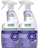 Gonzo Disinfectant Spray & All Purpose Cleaner - 24 Ounce (2 Pack) Lavender - Odor Eliminator, Disinfectant, Flood Fire…