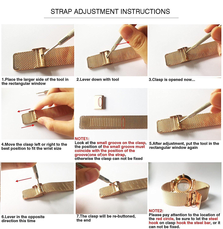 CRRJU Men Business Slim Analog Quartz Watch,Date Black Dial Wrist Watch with Mesh Bracelet Strap by CRRJU (Image #7)
