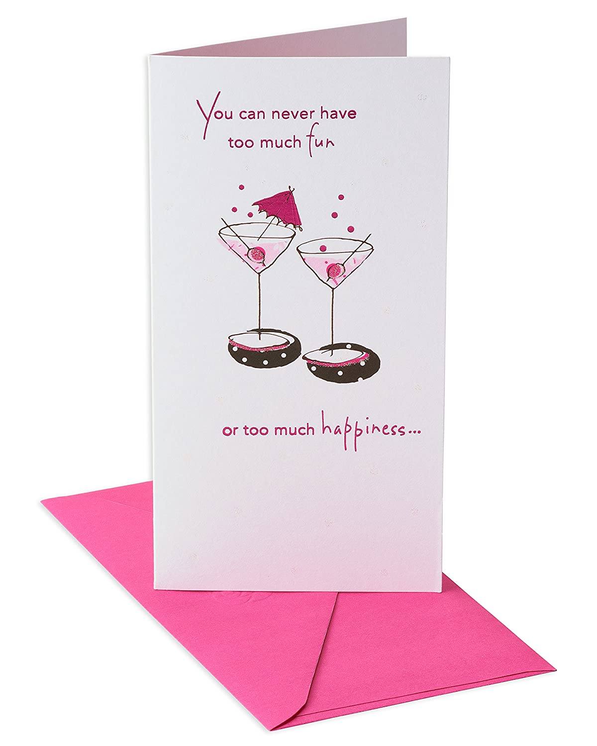 Amazon American Greetings Cheers Birthday Card With Glitter
