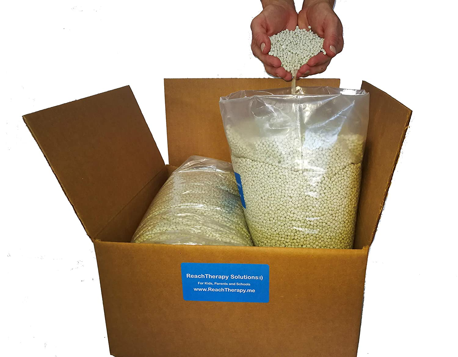 High Density Plastic Pellets for Weighted Blankets Weighted Blankets Corn Hole Shooting Bags & Draft Stoppers - Choose 5 lbs, 10 lbs 20 lbs (10 lbs) ReachTherapy Solutions 4337013680