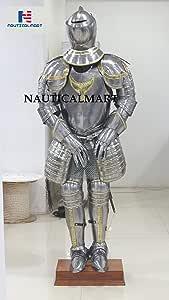 16th-Century Italian Suit of Armor Medieval Design Replica Wearable Handicraft Replica