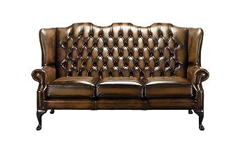 Amazon De Chesterfield Mallory 3 Sitzer Sofa Mit Hoher Ruckenlehne