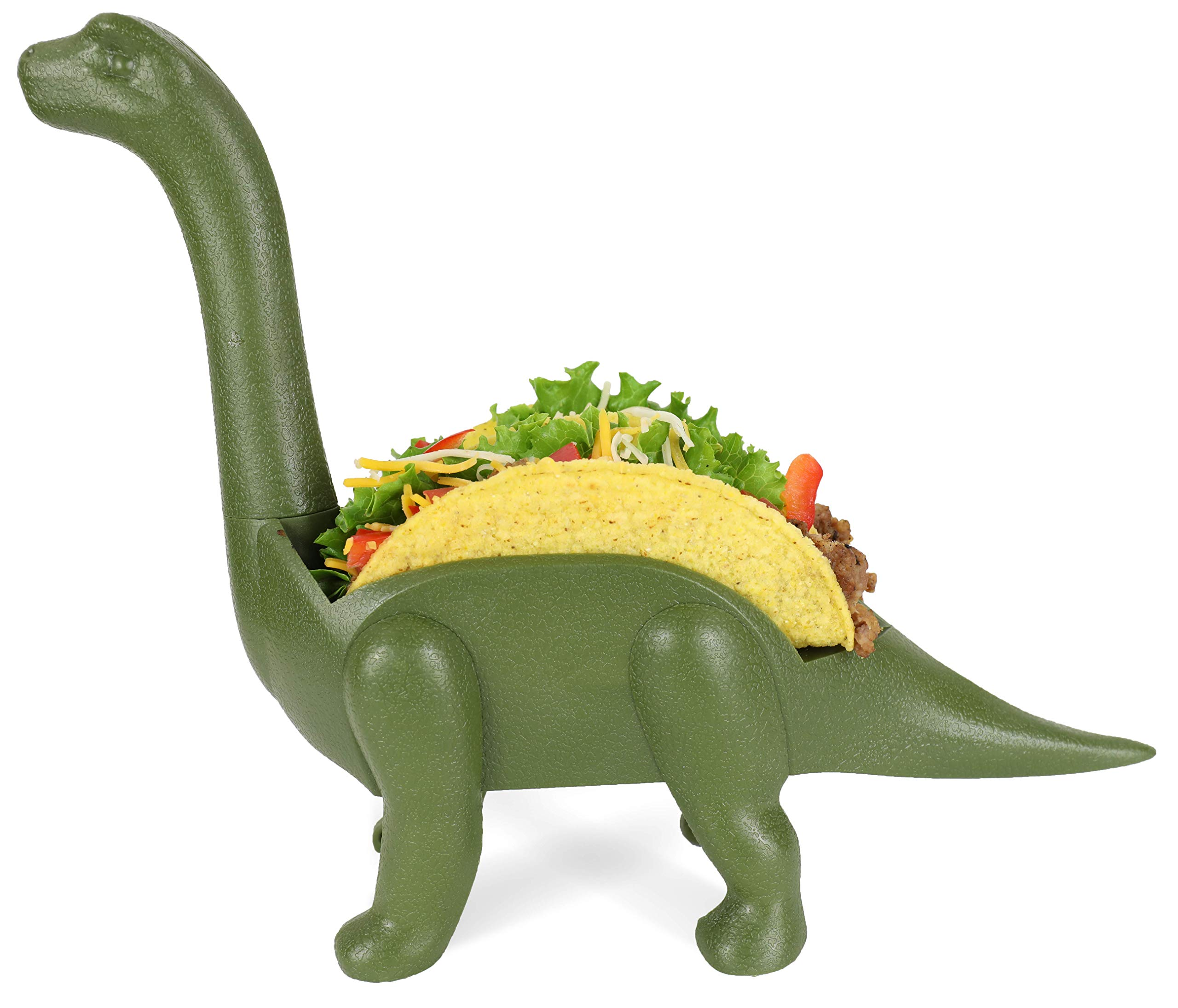 GrubKeepers Dinosaur Taco Holder - Ultrasaurus (Holds 2 Tacos!) - for Jurassic Taco Tuesdays and Dinosaur Parties - Perfect Gift for Taco Lovers - Perfect for Kids AND Adults