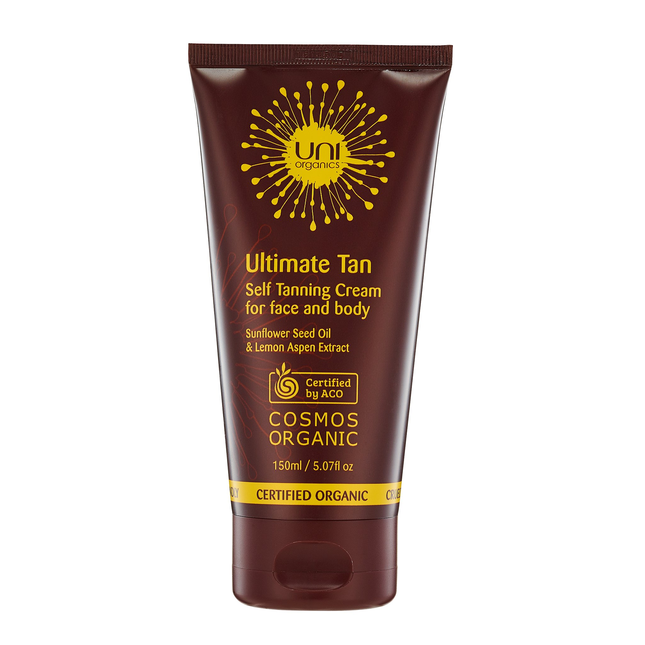 Certified Organic Anti-Aging Self Tanning Lotion For Face & Body - Buildable Self Tan Medium to Dark - Reduces Wrinkles and Fine Line, Deep Hydration with Sunflower Seed Oil by Uni Organics