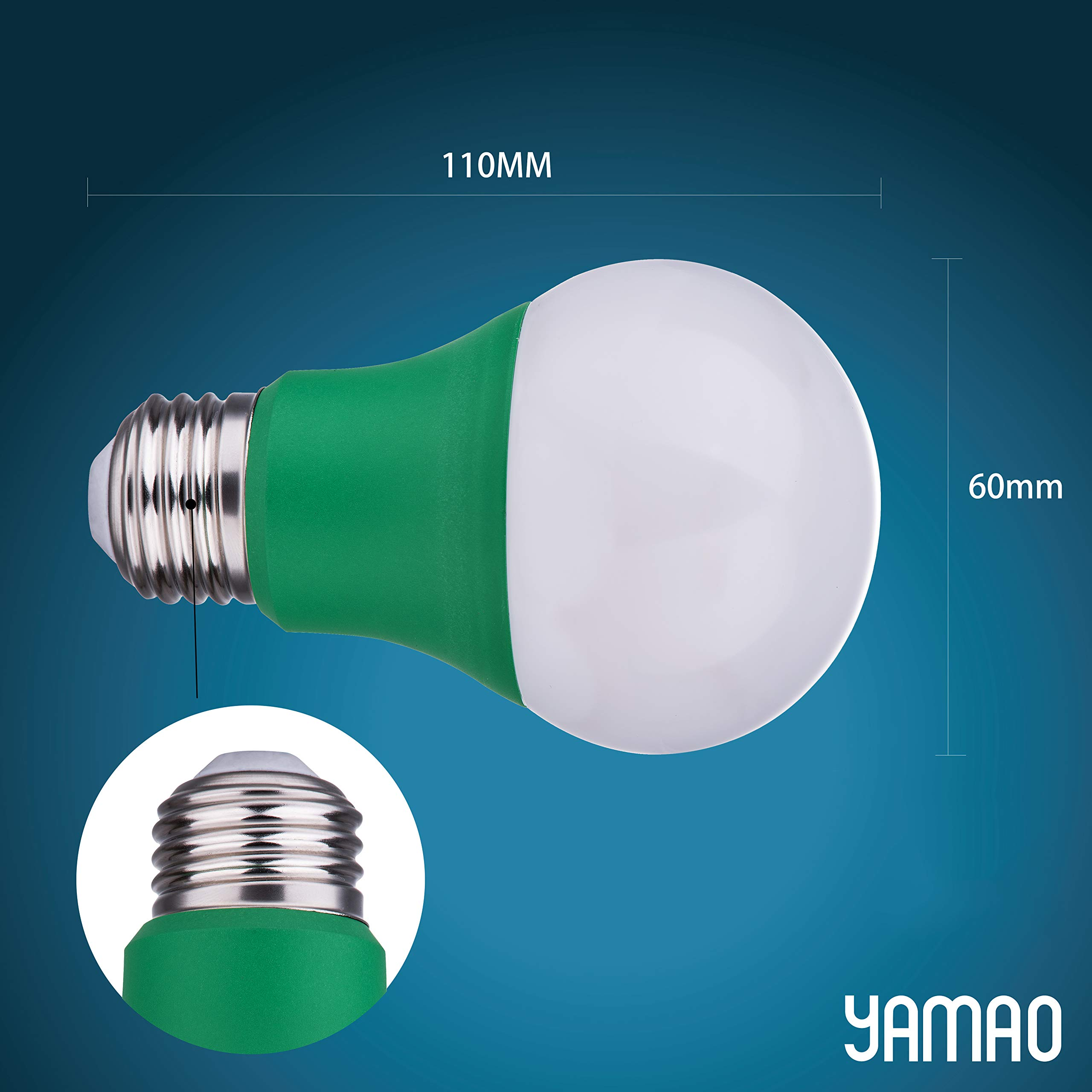 YAMAO A19 9W Plant Growing Light Bulb for Indoor Garden Greenhouse Hydroponic Flowers Vegetables Grow