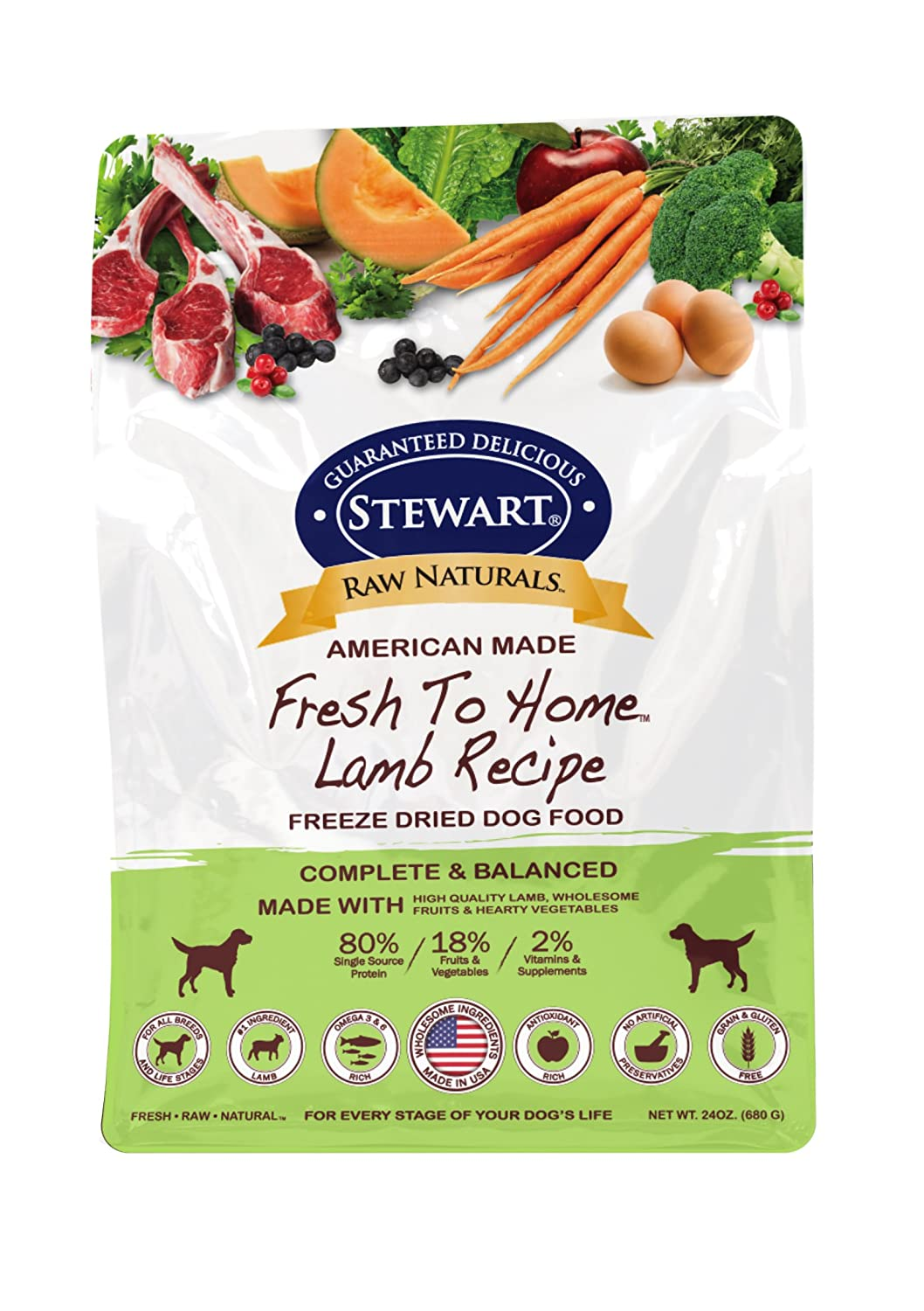 3. Stewart Raw Naturals Fresh To Home Freeze-Dried Dog Food
