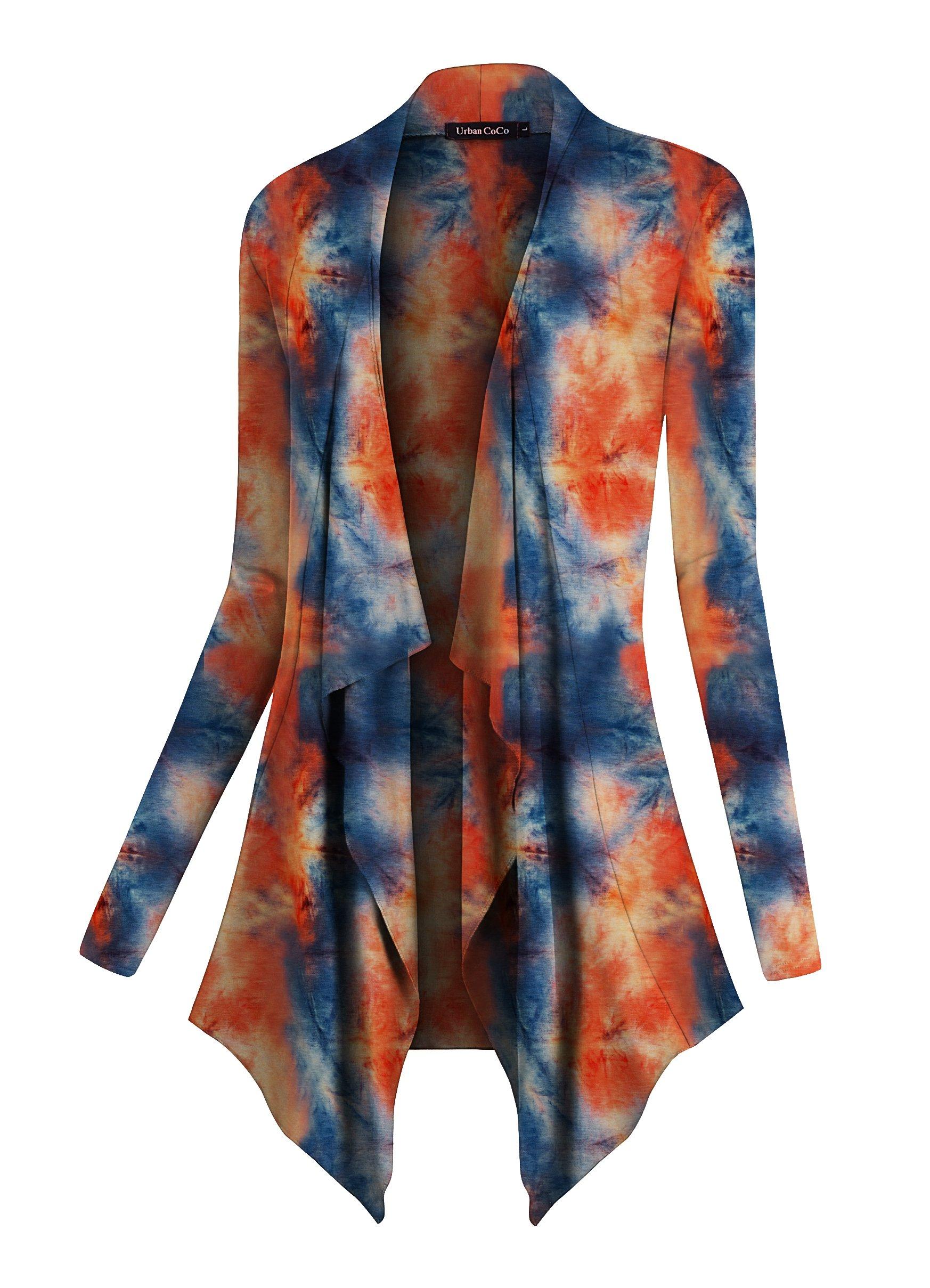 Urban CoCo Women's Drape Front Open Cardigan Long