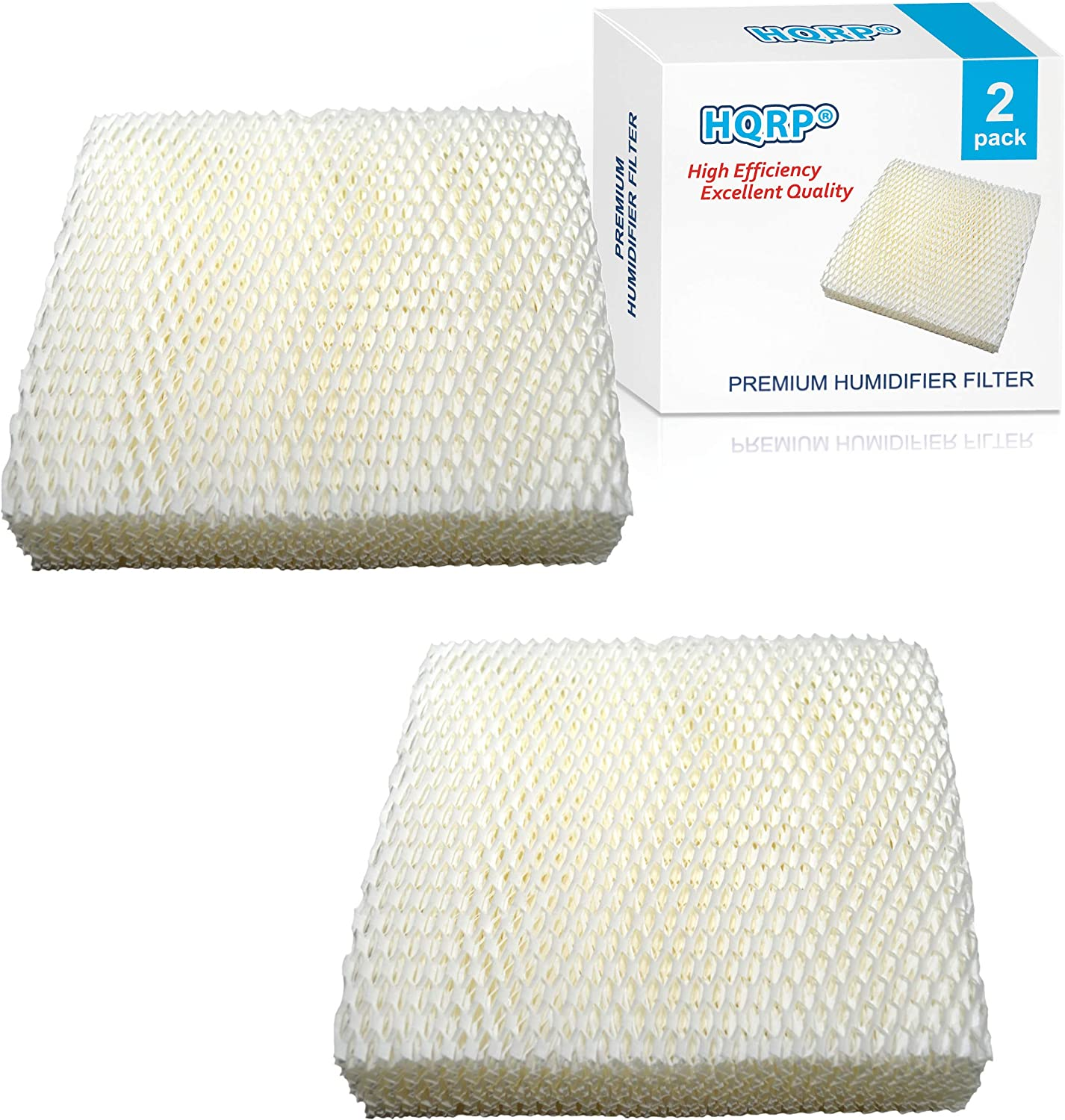 HQRP 2-Pack Wick Filter Compatible with Duracraft DH821 DH822 DH822C DH823 DH824 Humidifiers, AC-811 D11-C HC-811 Replacement