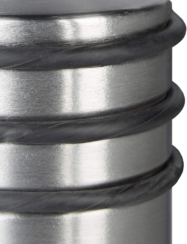 75 x 68 x 68 mm Relaxdays 6X T/ürstopper T/ürfeststeller Gummi-Schutz hoch Edelstahl Silber T/ürpuffer schwere T/üren HBT: ca