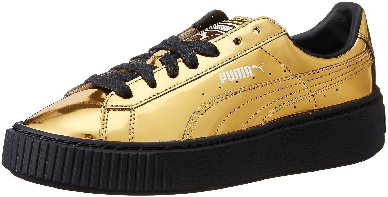 Puma Damen Basket Platform Metallic 362339-04 Sneaker  36 EU|Gold