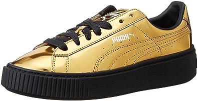 scarpe puma basket gold