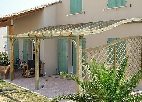 MIO-GIARDINO S-line - Pergola addossata in legno per terrazzi con ...