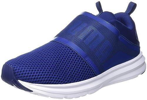 2ddc967eaa9 Puma Men s Enzo Strap Blue Depths- White Running Shoes - 9 UK India ...