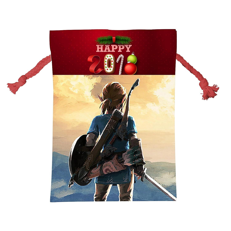 ゼルダの伝説Personalizedクリスマスバッグ巾着サンタクロース袋の休日Presents B077G4FNDQ
