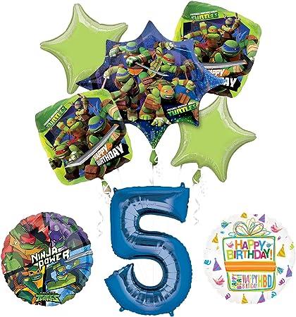 Teenage Mutant Ninja Turtles 2nd Birthday Party Supplies and TMNT Balloon