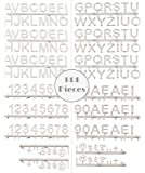 """One Inch Letterboard Letters: 144 Character White Alphanumeric Characters for Black Plastic Letter Boards with Alphabet, Numerals, & Punctuation (144 pieces, 1"""", Helvetica Font)"""