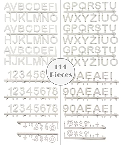 Amazon Half Inch Letterboard Letters 144 Character White